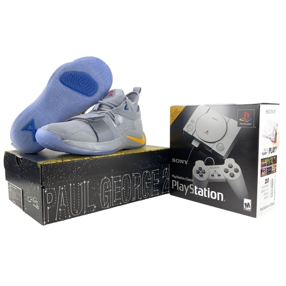 separation shoes 3539a b8f2d Nike PlayStation Shoe PG 2.5 & PS1 Classic Console NWT